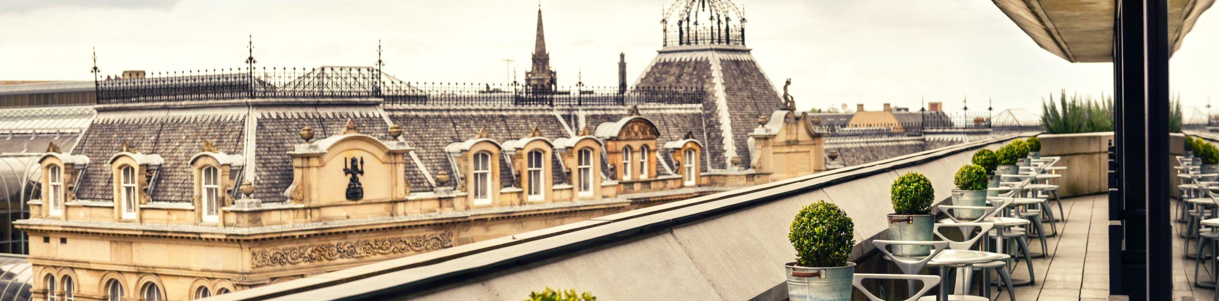 Roof top restaurant in Edinburgh
