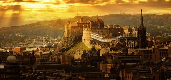Sunset over Edinburgh Castle