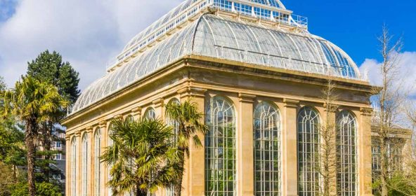 Botanic gardens glasshouse in Edinburgh
